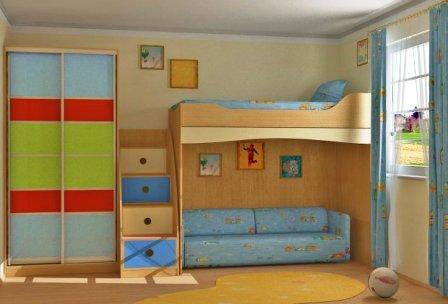 цвет стен в детской комнате