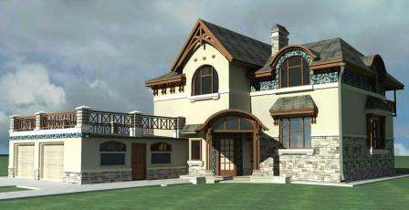 дом из несъемной опалубки